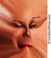 Freaky Face Flat