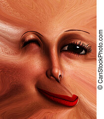 Freaky Face Flat - My vision of a distorted and abstract...