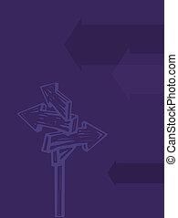 frecce, illustrazione, direzionale