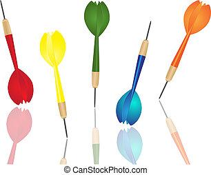 freccetta, colorare, differente