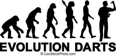 freccette, evoluzione