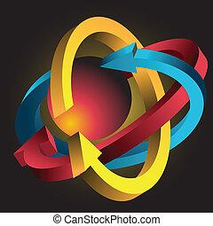 freccia, atomo
