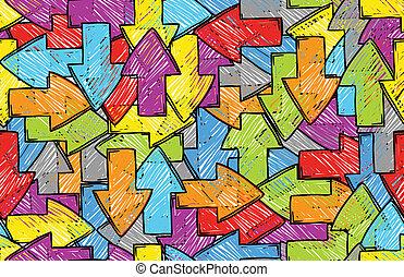 freccia, colorito, fondo, seamless