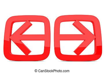 freccia destra, sinistra
