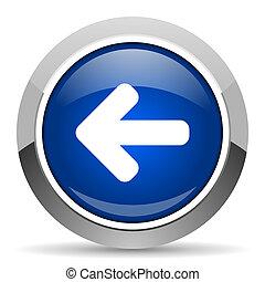 freccia sinistra, icona