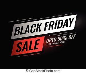 fredag, försäljning, rabatt, svart, detaljerna, baner