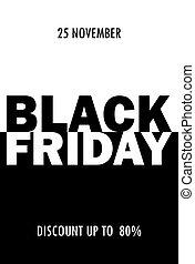fredag, försäljning, svart