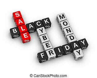 fredag, svart, cybernetiska, måndag