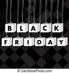 fredag, svart fond