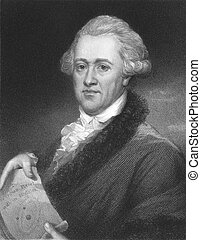 Frederick William Herschel (1738-1822) on engraving from the...