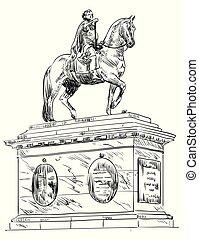 Frederik V on Horseback Statue, Copenhagen