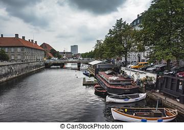 Frederiksholms Canal in Copenhagen, Denmark