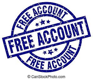 free account blue round grunge stamp