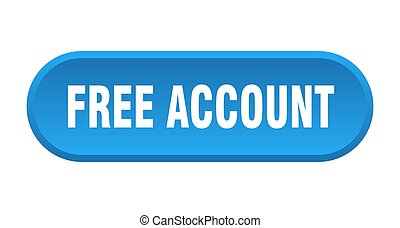 free account button. rounded sign isolated on white background