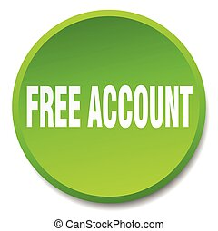 free account green round flat isolated push button