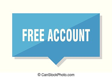 free account blue square price tag