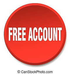 free account red round flat isolated push button