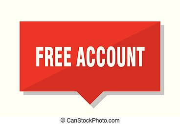 free account red square price tag
