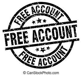 free account round grunge black stamp