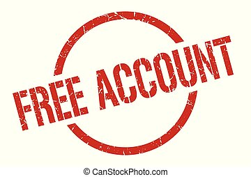 free account red round stamp