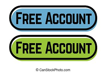 free account stamp on white