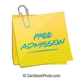 free admission memo illustration design