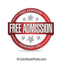 free admission seal illustration design