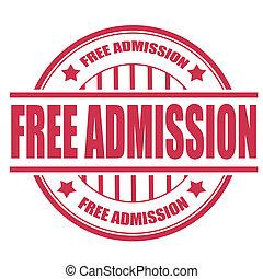 free admission stamp