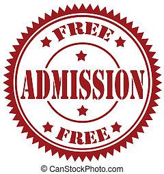 Free Admission-stamp