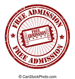 Free admission stamp - Free admission grunge rubber stamp on...