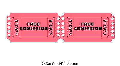 Free admissionmovie ticket illustration high resolution...