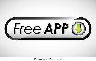 free app design, vector illustration eps10 graphic