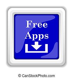 Free apps icon. Internet button on white background.