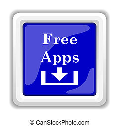 Free apps icon. Internet button on white background.