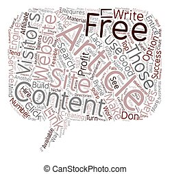 Free Article Content Explained text background wordcloud concept