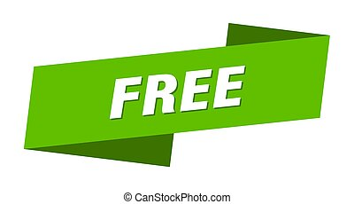 free banner template. free ribbon label sign