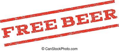 Free Beer Watermark Stamp