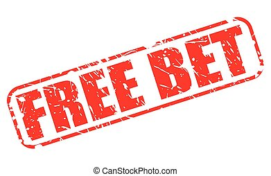 FREE BET red stamp text on white