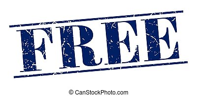 free blue grunge vintage stamp isolated on white background