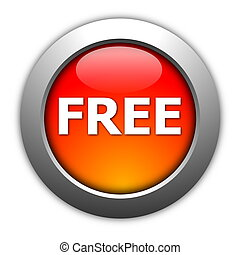 free button - glossy free button illustration isolated on...