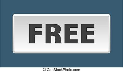 free button. free square white push button