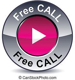 Free call round button.