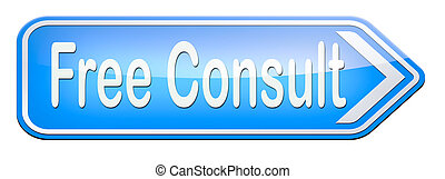 Free consult - free consult road sign or help and...