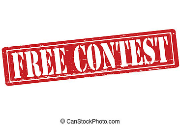 Free contest - Stamp with text free contest inside, vector...