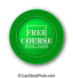 Free course icon. Internet button on white background.