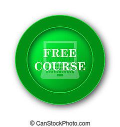 Free course icon. Internet button on white background.