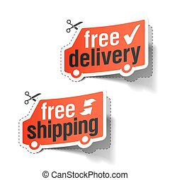 Free delivery and shipping labels