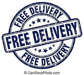 free delivery blue grunge round vintage rubber stamp