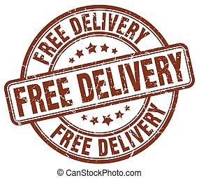 free delivery brown grunge round vintage rubber stamp