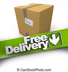 Free delivery, cardboard box